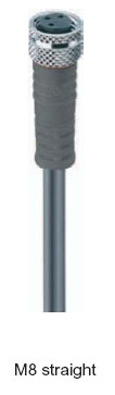 Cablu senzor cu terminal drept V1-3/P/2m