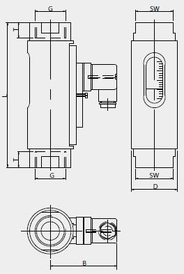 Debitmatru Meister DKG-1/15, 5-15l/min, G1/2'' brass, M12 plug