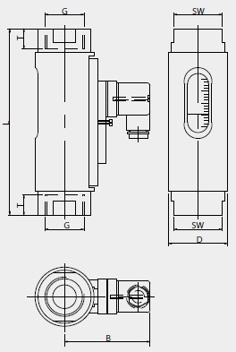 Debitmetru Meister DKG-1/24, 8-24 l/min, G1/2, NO