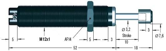 Amortizor de soc ACE MC75EUM-3