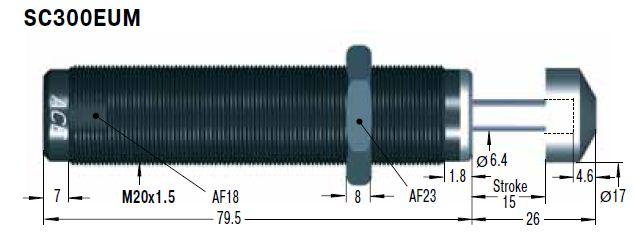 Amortizor de soc ACE SC300EUM-6