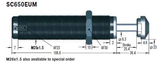Amortizor de soc ACE SC650EUM-0