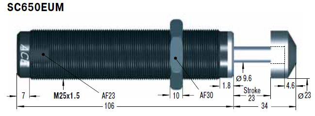 Amortizor de soc ACE SC650EUM-6