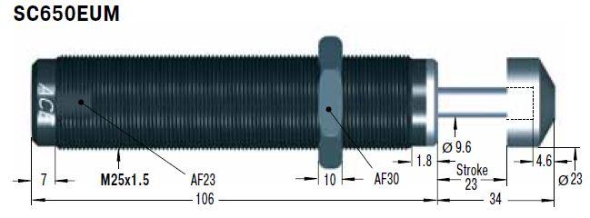 Amortizor de soc ACE SC650EUM-9