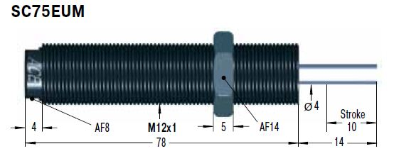 Amortizor de soc ACE SC75EUM-5