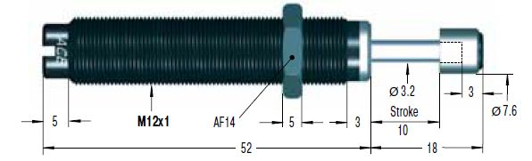 Amortizor de soc ACE SC75EUM-7