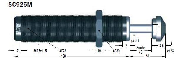 Amortizor de soc ACE SC925EUM-3